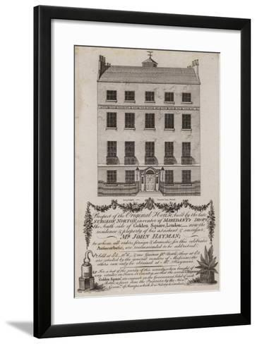 Chemists and Druggists, Mr John Hayman, Trade Card--Framed Art Print