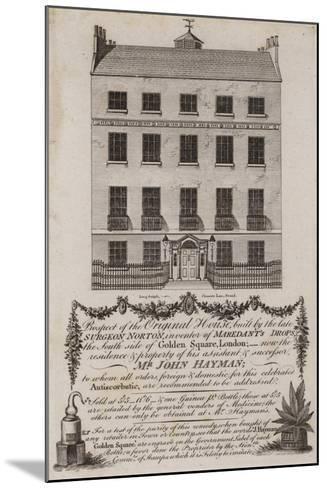 Chemists and Druggists, Mr John Hayman, Trade Card--Mounted Giclee Print