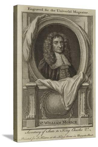 Sir William Morice, Secretary of State to King Charles 2nd--Stretched Canvas Print