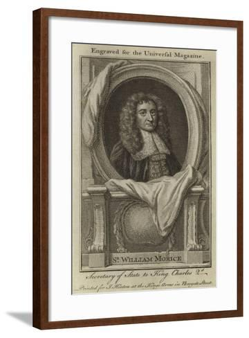 Sir William Morice, Secretary of State to King Charles 2nd--Framed Art Print