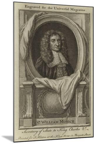 Sir William Morice, Secretary of State to King Charles 2nd--Mounted Giclee Print