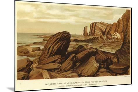 The North Cape of Heligoland Seen from the Western Side--Mounted Giclee Print