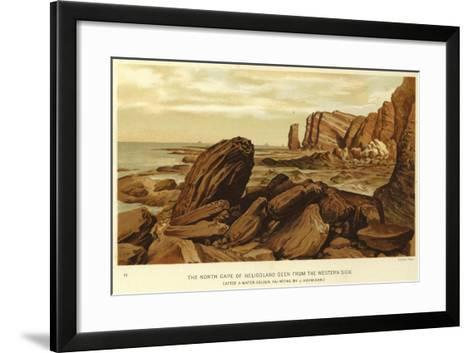 The North Cape of Heligoland Seen from the Western Side--Framed Art Print