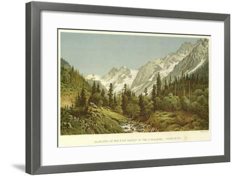 Glaciers of the Sind Valley in the Himalayas, Kashmir--Framed Art Print