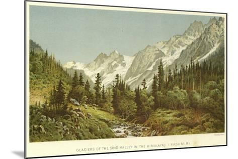 Glaciers of the Sind Valley in the Himalayas, Kashmir--Mounted Giclee Print