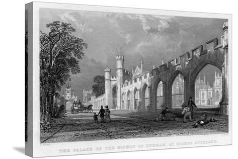The Palace of the Bishop of Durham, at Bishop Auckland, 1833--Stretched Canvas Print