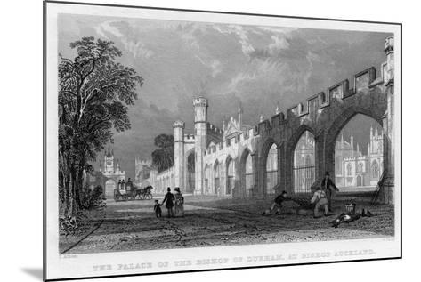 The Palace of the Bishop of Durham, at Bishop Auckland, 1833--Mounted Giclee Print