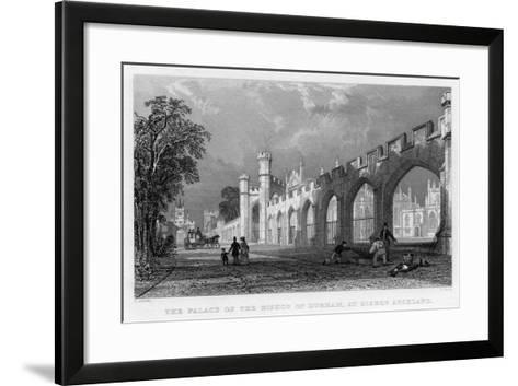 The Palace of the Bishop of Durham, at Bishop Auckland, 1833--Framed Art Print