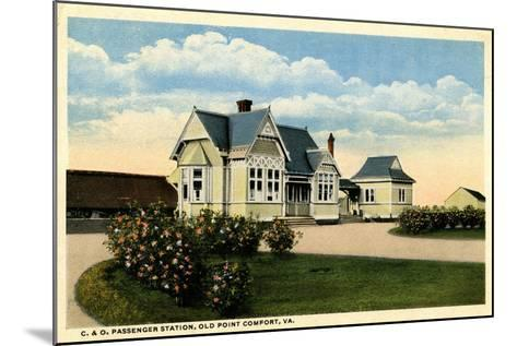 C&O Passenger Station, Old Point Comfort, Virginia, 1915--Mounted Giclee Print