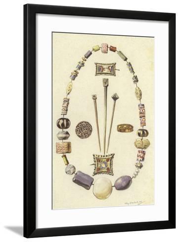 Objects from the Ancient Settlement of Dorestad, Netherlands-Willem II Steelink-Framed Art Print