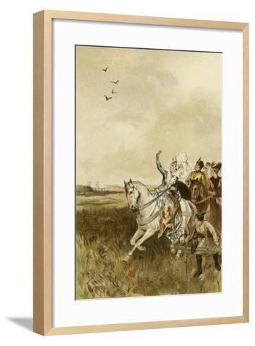 Jacqueline, Countess of Hainaut Hunting with Falcons-Willem II Steelink-Framed Art Print