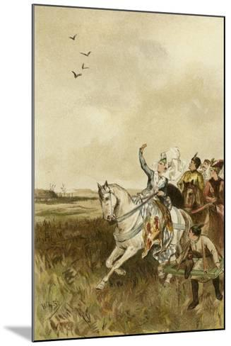 Jacqueline, Countess of Hainaut Hunting with Falcons-Willem II Steelink-Mounted Giclee Print