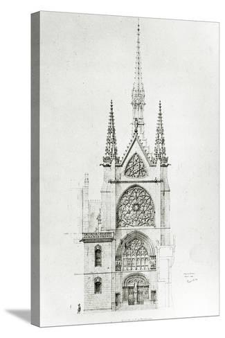Drawing for the Restoration of the Chapel, Ch?teau De Pierrefonds, 1864-Eugene Emmanuel Viollet-le-Duc-Stretched Canvas Print