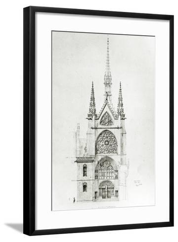 Drawing for the Restoration of the Chapel, Ch?teau De Pierrefonds, 1864-Eugene Emmanuel Viollet-le-Duc-Framed Art Print