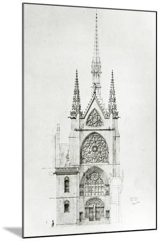 Drawing for the Restoration of the Chapel, Ch?teau De Pierrefonds, 1864-Eugene Emmanuel Viollet-le-Duc-Mounted Giclee Print