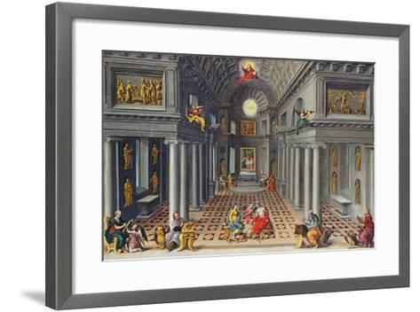 The Triumph of the Church or an Allegory of Christianity-Hans Or Jan Vredeman De Vries-Framed Art Print