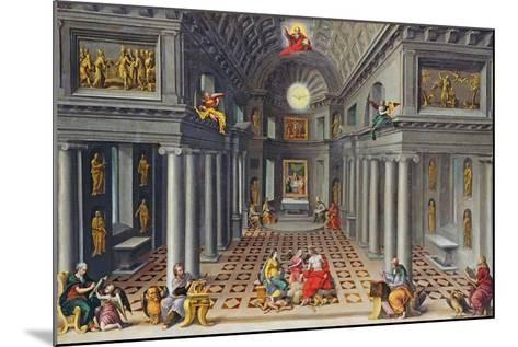 The Triumph of the Church or an Allegory of Christianity-Hans Or Jan Vredeman De Vries-Mounted Giclee Print