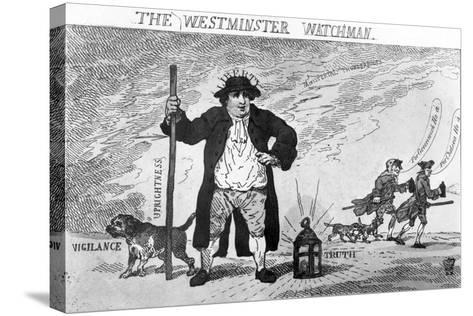 The Westminster Watchman--Stretched Canvas Print