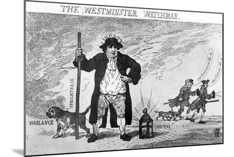 The Westminster Watchman--Mounted Giclee Print