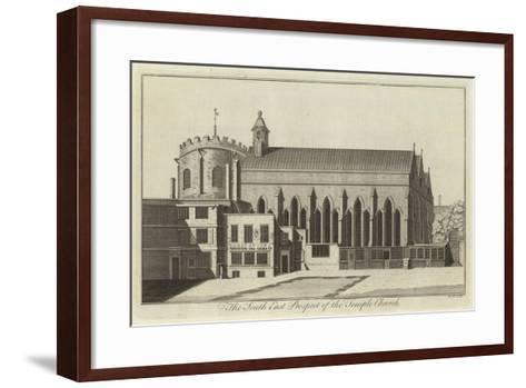 The South East Prospect of the Temple Church, London--Framed Art Print
