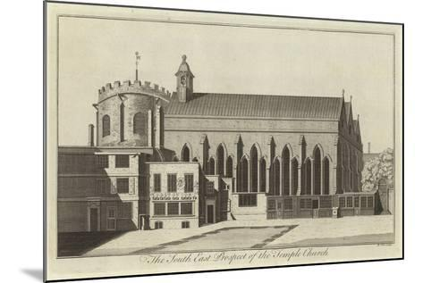 The South East Prospect of the Temple Church, London--Mounted Giclee Print
