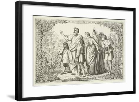 Illustration for the Pilgrim's Progress--Framed Art Print