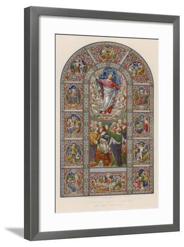 A Stained Glass Window by Messrs Ward and Hughes, London--Framed Art Print