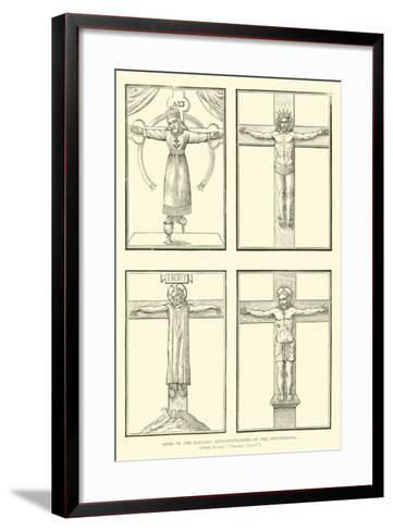 Some of the Earliest Representations of the Crucifixion--Framed Art Print