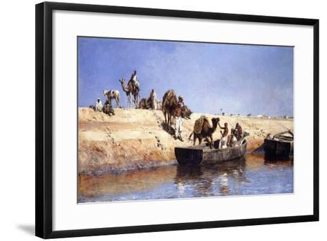 An Embarkment of Camels on the Beach at Sale, Maroc, 1880-Edwin Lord Weeks-Framed Art Print