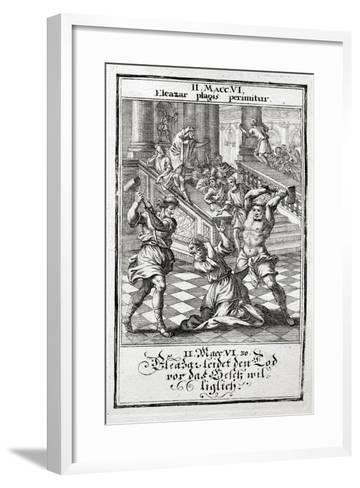 Eleazar Willingly Accepts the Death Penalty, Maccabees 1695-Christoph Weigel-Framed Art Print