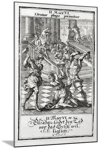 Eleazar Willingly Accepts the Death Penalty, Maccabees 1695-Christoph Weigel-Mounted Giclee Print