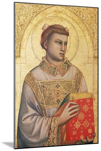Polyptych of St Stephen, 1330 - Ca1335-Giotto di Bondone-Mounted Giclee Print