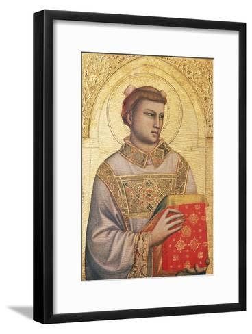 Polyptych of St Stephen, 1330 - Ca1335-Giotto di Bondone-Framed Art Print