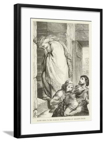 David Going to His Chamber after Hearing of Absalom's Death--Framed Art Print