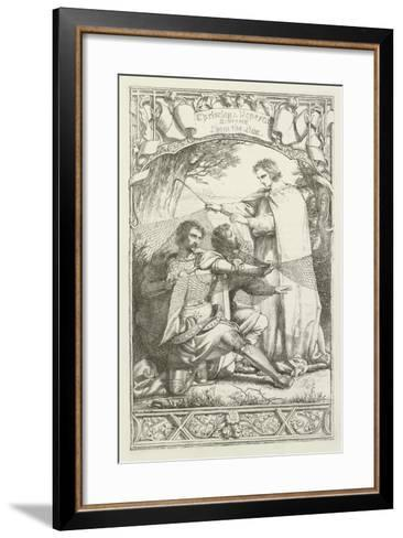 Illustration for the Pilgrim's Progress-Henry Courtney Selous-Framed Art Print