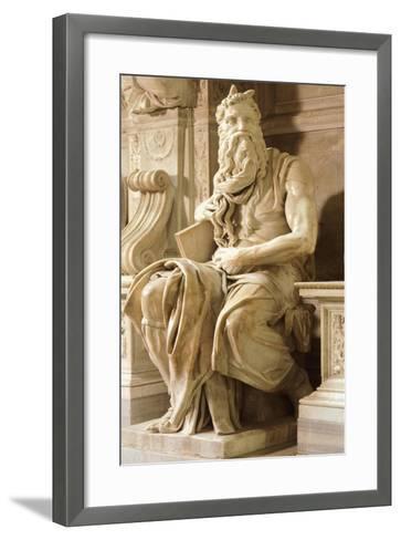 Moses, Detail from Tomb of Julius II-Michelangelo Buonarroti-Framed Art Print