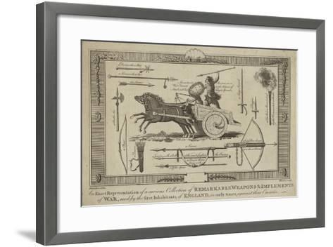 An Exact Representation of a Curious Collection of Remarkable Weapons--Framed Art Print
