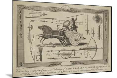 An Exact Representation of a Curious Collection of Remarkable Weapons--Mounted Giclee Print