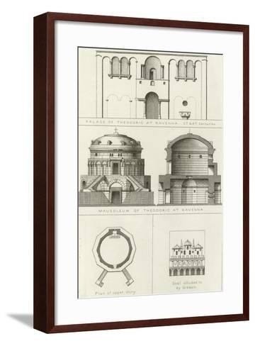 Palace and Mausoleum of Theodoric at Ravenna, Italy, 5th and 6th Centuries--Framed Art Print