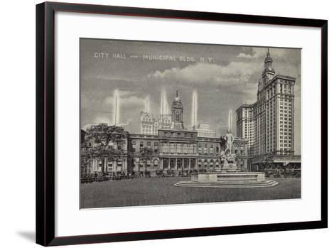 City Hall and Municipal Building, New York City, Usa--Framed Art Print