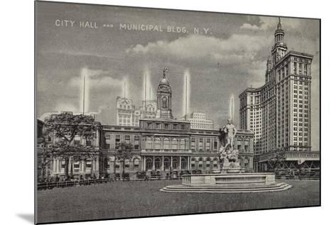City Hall and Municipal Building, New York City, Usa--Mounted Giclee Print