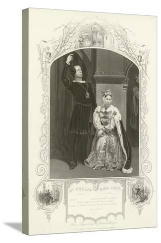 Mr Phelps as Hamlet and Miss Glyn as Queen, Hamlet, Act III, Scene IV--Stretched Canvas Print