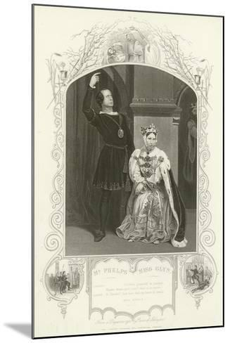 Mr Phelps as Hamlet and Miss Glyn as Queen, Hamlet, Act III, Scene IV--Mounted Giclee Print