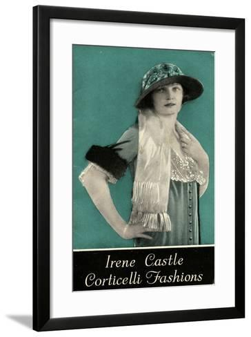 Advertisement for Irene Castle Corticelli Fashions, 1925--Framed Art Print