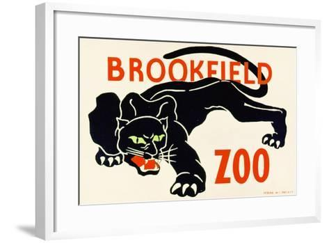 Poster Advertising Brookfield Zoo in Chicago, Illinois, 1938--Framed Art Print