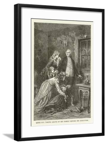 Louis XVI Taking Leave of His Family before His Execution--Framed Art Print