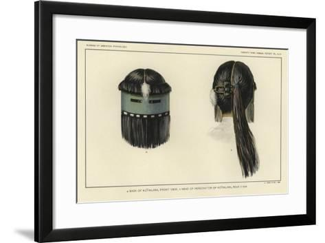 Mask of Kothlama, Front View; Head of Personator of Kothlama, Rear View--Framed Art Print