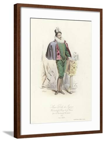 Anne, Duke of Joyeuse, Favourite of Henry III of France--Framed Art Print