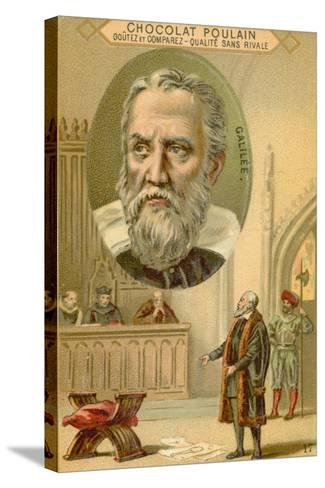 Galileo Galilei, Italian Physicist, Mathematician and Astronomer--Stretched Canvas Print