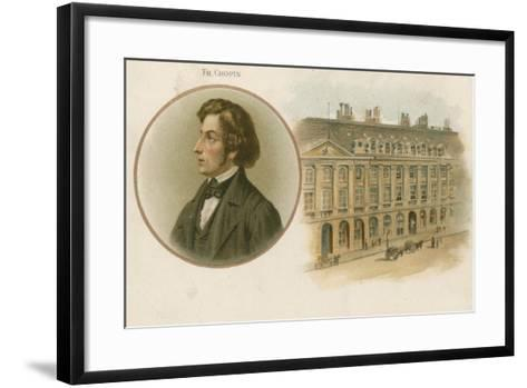 Frederic Chopin, Polish, Composer and Virtuoso Pianist--Framed Art Print